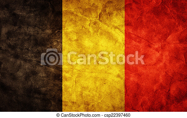 Belgium grunge flag. Item from my vintage, retro flags collection - csp22397460
