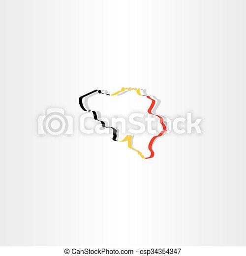 belgium map vector icon - csp34354347