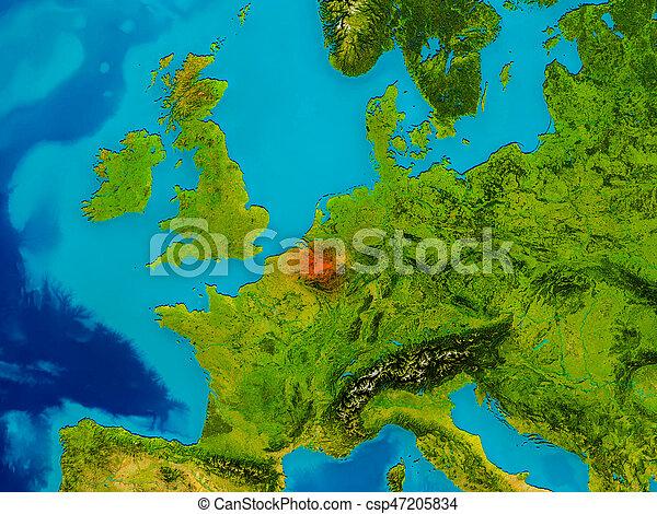 Belgium on physical map - csp47205834