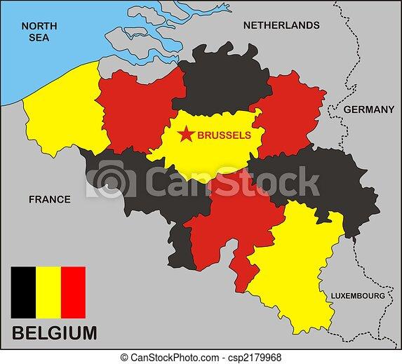belgium political map csp2179968