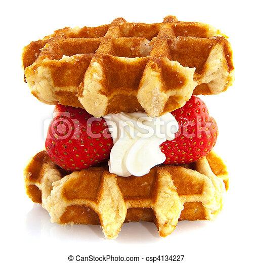 Belgium waffle - csp4134227