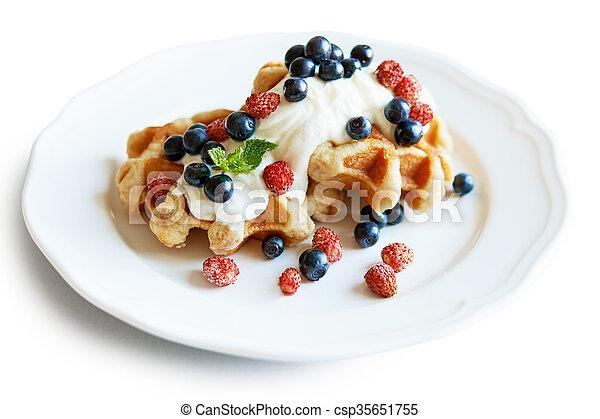 belgium waffle - csp35651755