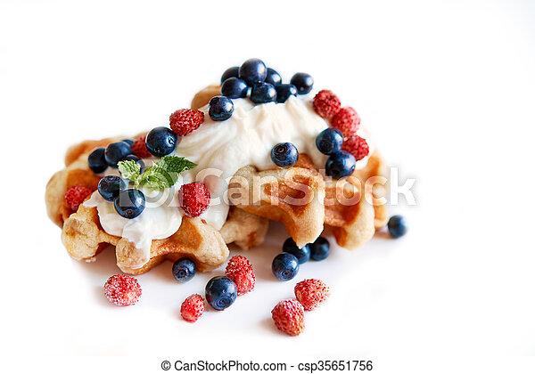 belgium waffle - csp35651756