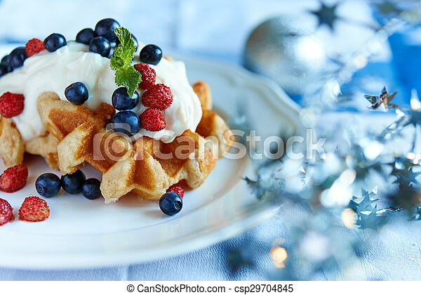 belgium waffle - csp29704845