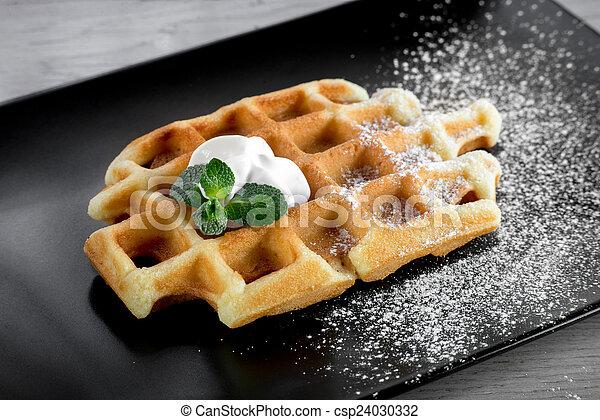 Belgium waffle - csp24030332