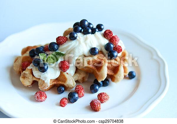 belgium waffle - csp29704838