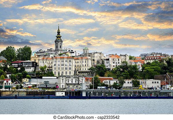 Belgrade cityscape on Danube - csp2333542