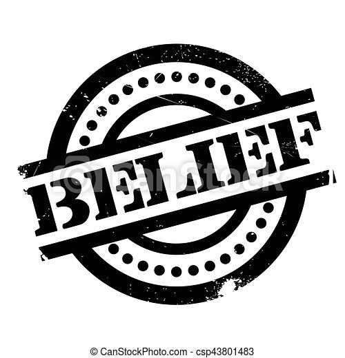 Belief rubber stamp - csp43801483