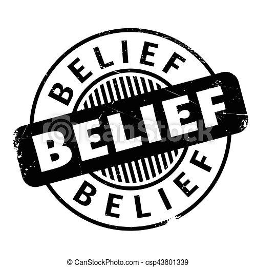 Belief rubber stamp - csp43801339