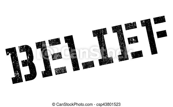 Belief rubber stamp - csp43801523