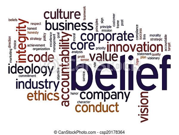 Belief word cloud - csp20178364