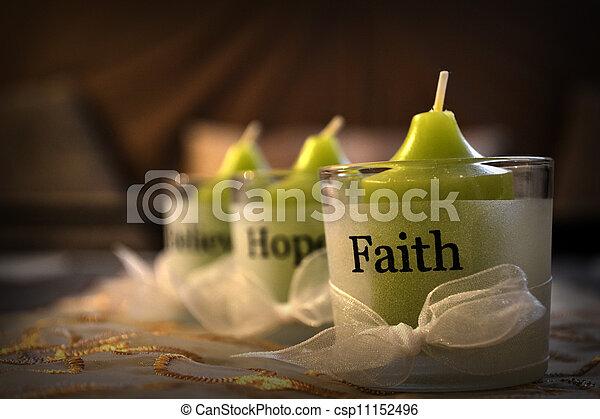 believe, hope, faith - csp11152496