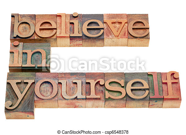 believe in yourself - csp6548378
