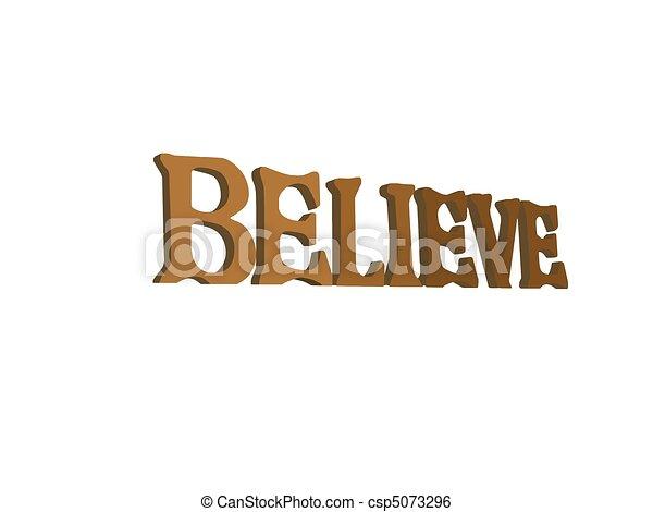 Believe Inspirational Sign - csp5073296