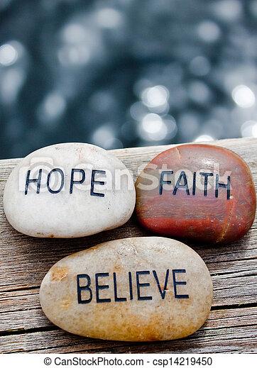 believe., rotsen, geloof, hoop - csp14219450