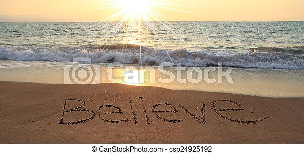 Believe - csp24925192