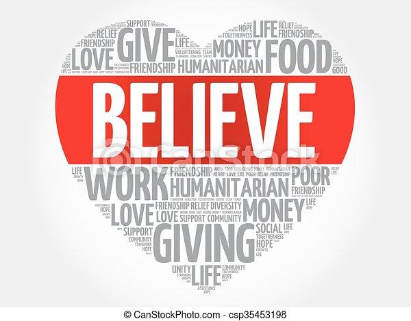Believe word cloud - csp35453198