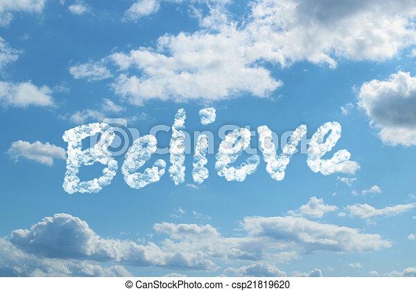 believe word on cloud - csp21819620