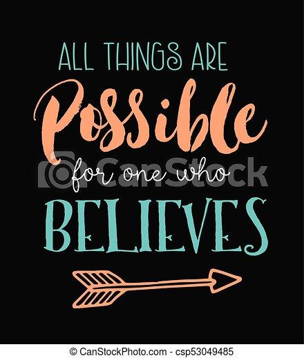 believes, minden, ruhanemű, egy, lehetséges - csp53049485
