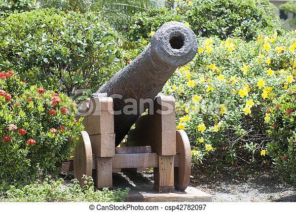 Belize City Cannon - csp42782097