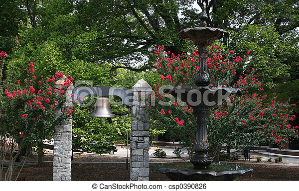 Bell and Fountain - csp0390826