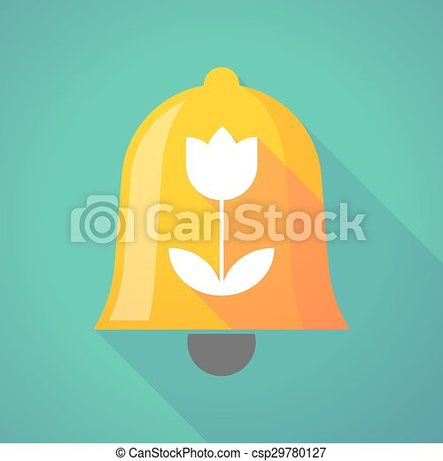 Bell icon with a tulip - csp29780127