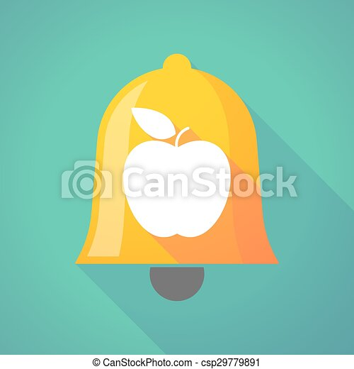 Bell icon with an apple - csp29779891