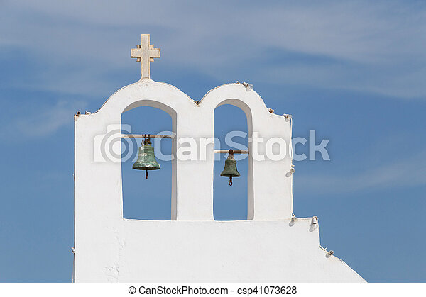 bell tower in Oia - csp41073628