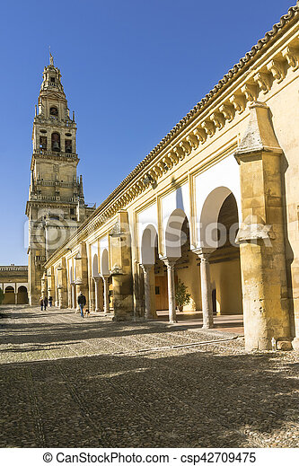 bell tower of the mezquita cathedral cordoba spain bell tower