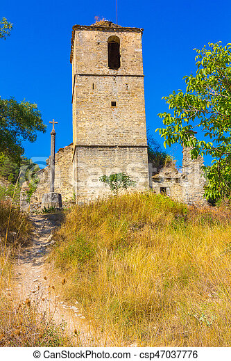 Bell Tower of the old church - csp47037776