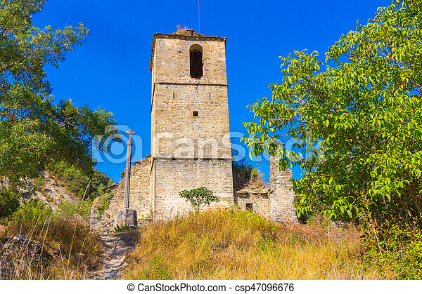 Bell Tower of the old church - csp47096676