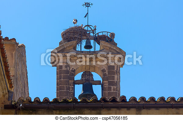 Bell Tower of the old church - csp47056185