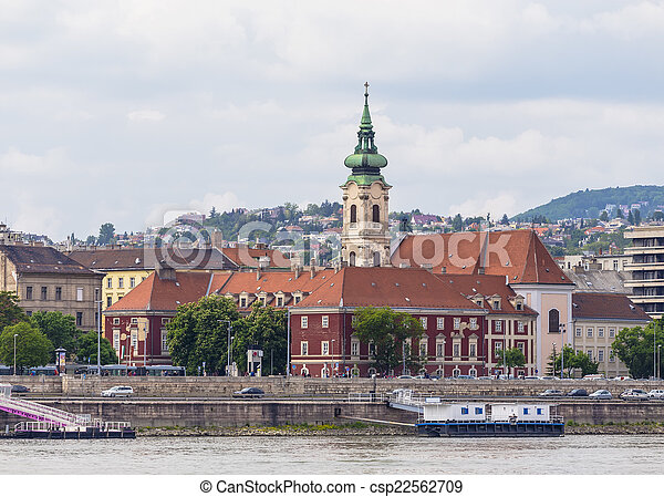 Bell tower of the Roman Catholic Church in Buda - csp22562709