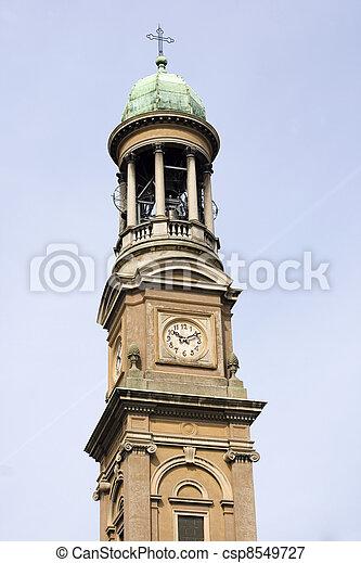 Bell tyower, St. Luigi church of Milan - csp8549727
