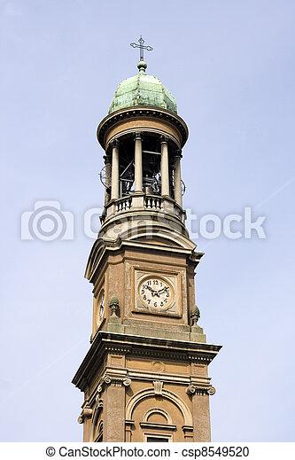 Bell tyower, St. Luigi church of Milan - csp8549520