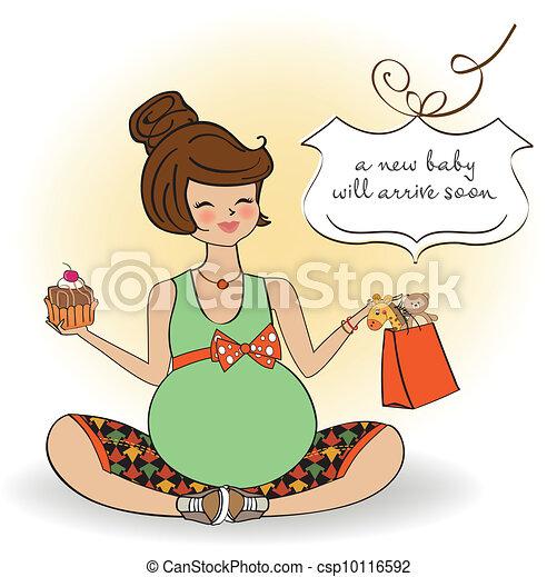 bella donna, incinta - csp10116592