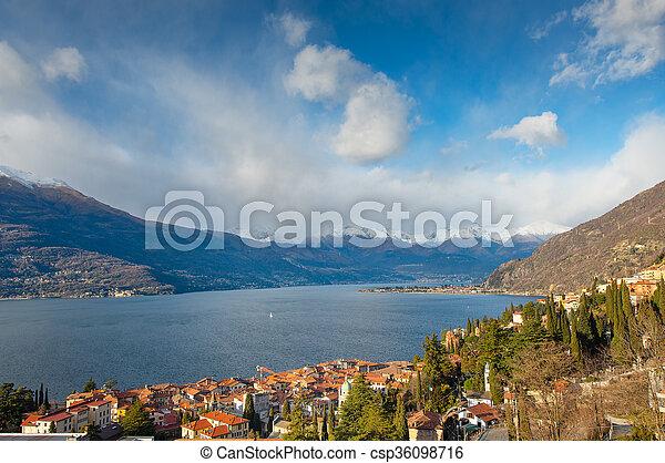 Bellano on Lake Como Italy - csp36098716