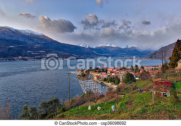 Bellano on Lake Como Italy - csp36098692