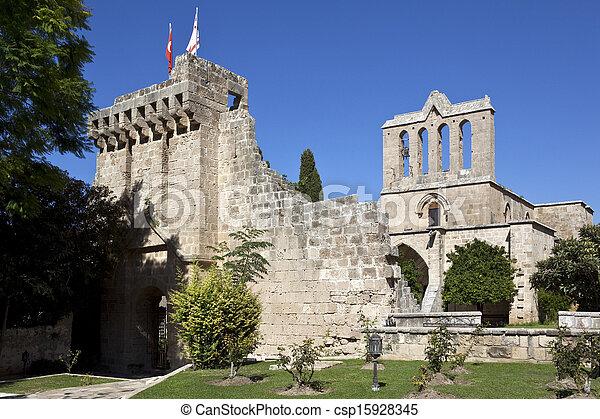 Bellapais Monastery - Turkish Cyprus - csp15928345