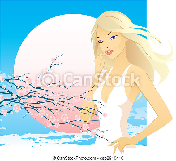belle femme - csp2910410