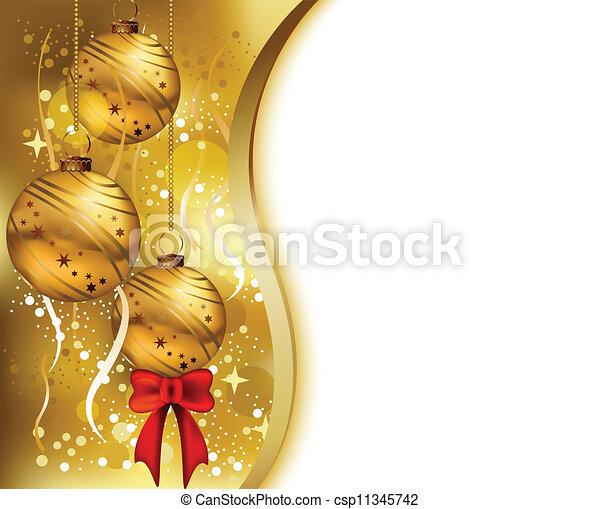 Tarjeta de Navidad de belleza - csp11345742