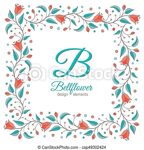Bellflower Floral Element Wedding Design Bellflower Design Element
