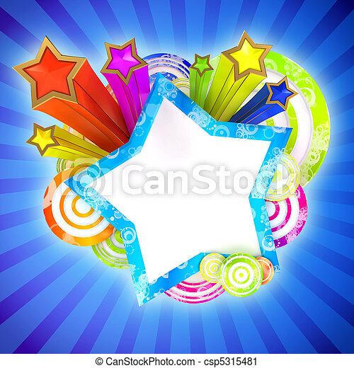 bello, colorato, zebrato, discoteca, stelle, bandiera - csp5315481
