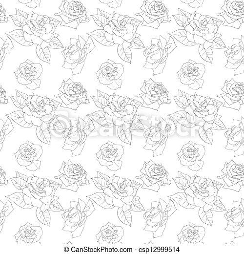 Bello fiori seamless carta da parati clip art for Stock carta da parati