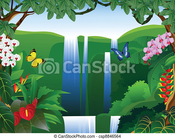 bello, fondo, natura - csp8846564