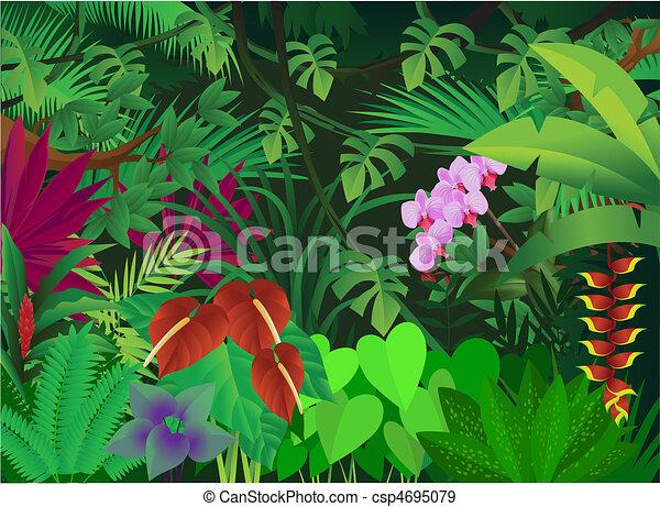 bello, foresta, fondo - csp4695079