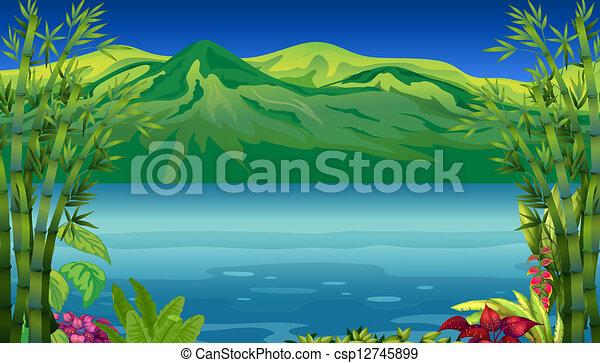 bello, montagna, fiume - csp12745899