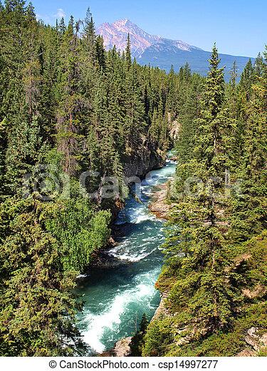bello, montagne, roccioso, parco nazionale, diaspro, alberta, canada, paesaggio - csp14997277