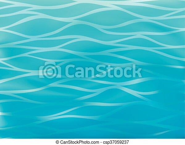 Bello Sfondo Blu Stilizzato Mare Onde