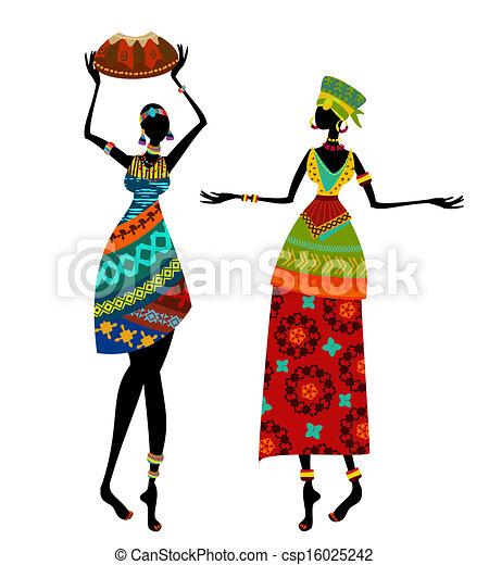 bello, tradizionale, donna, costume, africano - csp16025242